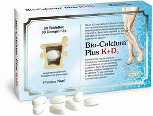 Bio-Calcium + Vitamine K en D3 60 tabletten