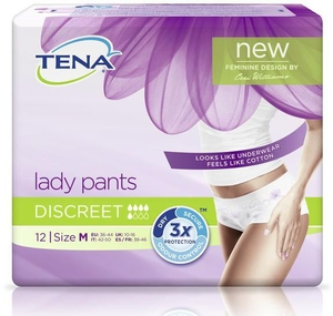 Tena Lady Pants Discreet Medium 12 Slips