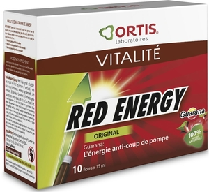 Ortis Red Energy Bio Alcohol 10x15ml