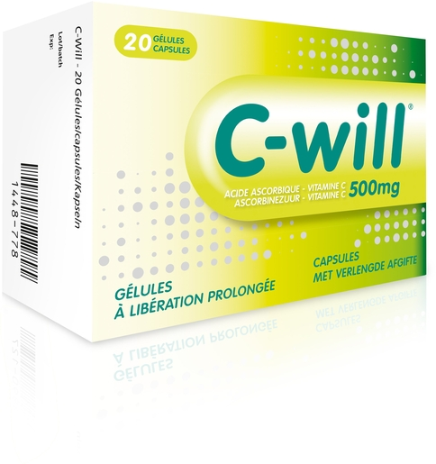 C-Will 20 Capsules | Vitamine C