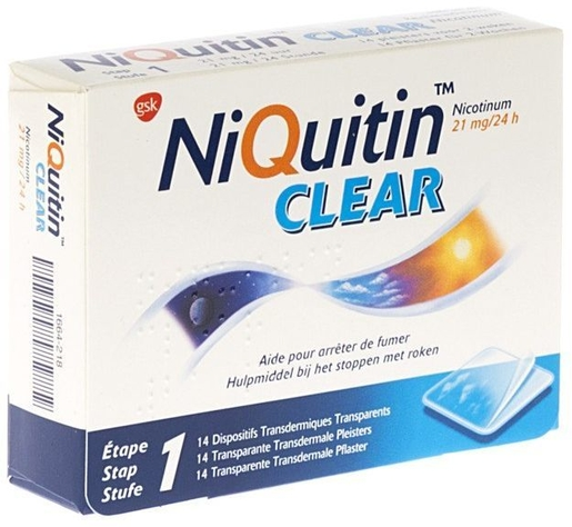 NiQuitin Clear 21mg 14 Patches | Stoppen met roken