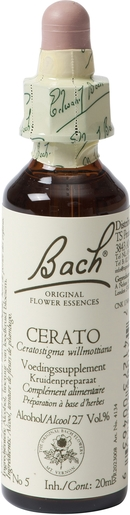 Bach Flower Remedie 05 Cerato 20ml | Doute - Incertitude
