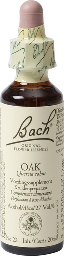 Bach Flower Remedie 22 Oak 20ml | Abattement - Désespoir