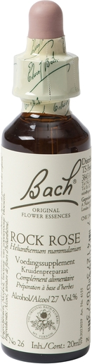 Bach Flower Remedie 26 Rock Rose 20ml | Angst - Ongerustheid