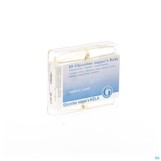 Glycérine Kela Pharma Adultes 10 Suppositoires | Constipation
