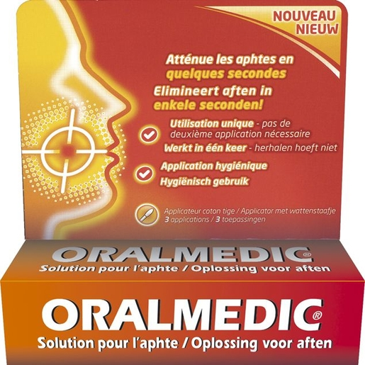 Oralmedic Contre Aphtes Applicateur 3 | Aphtes - Gingivite