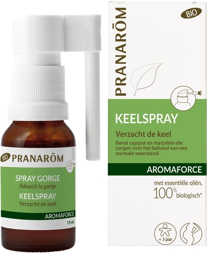 Pranarôm Aromaforce Keelspray Bio 15ml | Bioproducten