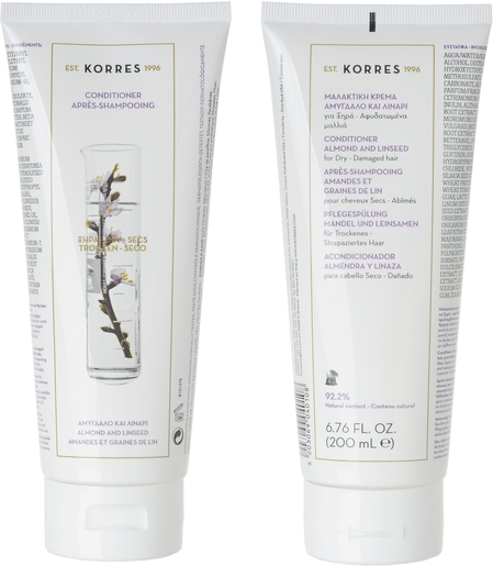 Korres Voedende Conditioner Amandel & Lijnzaad 200 ml | Conditioners