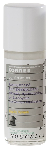 Korres KB Déodorant Roll-on Anti-Transpirant Sans Parfum Equisetum 30ml | Déodorants anti-transpirant