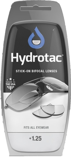Hydrotac Stick-on Bifocal Lenses +1.25