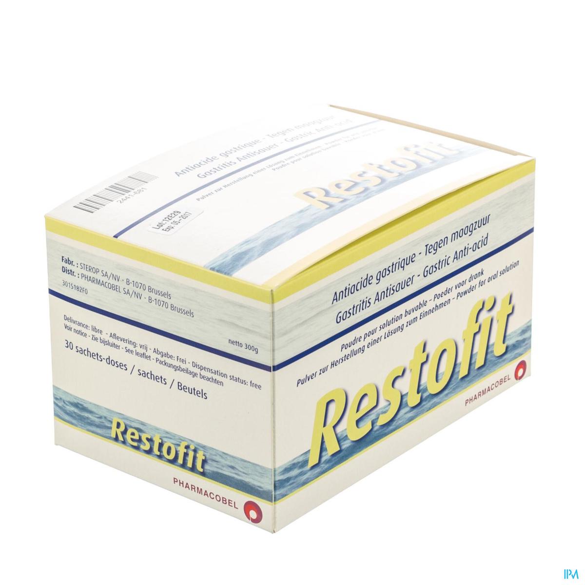 Restofit Poudre pour Solution Buvable 30 Sachets   Acidité ...