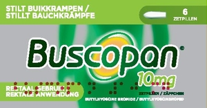 Buscopan 10mg 6 Suppositoires