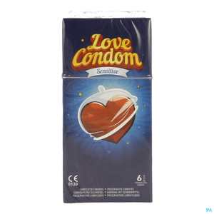 Love Condom Sensitive 6 Preservatifs Lubrifi#s