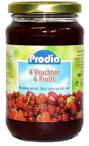 Prodia Confiture 4 Fruits + Fructose 370g