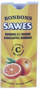 Sawes 10 Bonbons Orange Sans Sucre