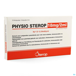 Physio Sterop 18mg/2ml 10 Ampoules x 2ml