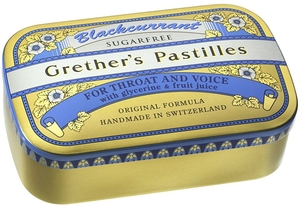 Grether's Pastilles Blackcurrant Sans Sucre 440g