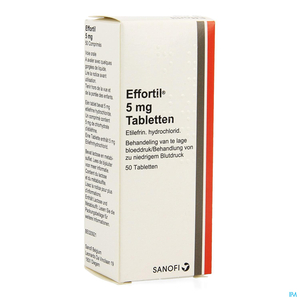 Effortil 5mg 50 Comprimés