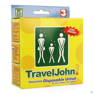 Travel John Urinal 3x800ml