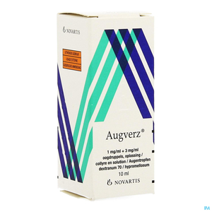 Augverz 1mg/ml + 3mg/ml Collyre en Solution 10ml