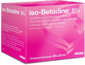 iso-Betadine 5% Solution pour Irrigation Oculaire Unidose 20 x 20ml