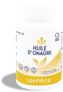 Lepivits Huile Onagre 500mg 60 Capsules