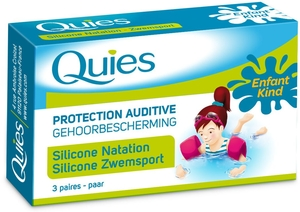 Quies Protection Auditive Enfant Silicone Natation (3 Paires)