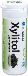 Miradent 30 Chewing Gum Xylitol Thé Vert Sans Sucre