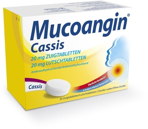 Mucoangin Cassis 20mg 30 Pastilles à Sucer