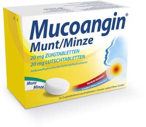 Mucoangin Menthe 20mg 30 Pastilles à Sucer