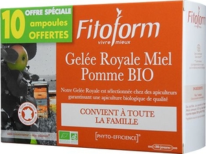 Gelee Royale Bio Miel-fructose Amp 20+10 Fitoform