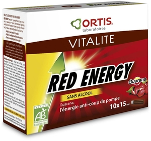 Ortis Red Energy Bio Sans Alcool 10 Fioles x15ml