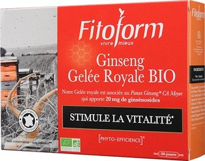Ginseng Gelee Royale BIO 20 Ampoules x10ml
