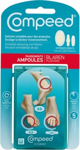 Compeed 5 Pansements Ampoules MixPack