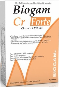 Biogam Chrome (Cr) Forte 30 Ampoules Buvables x2ml