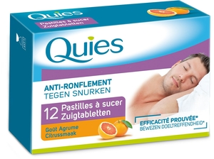 Quies 12 Pastilles A Sucer Anti Ronflement Gout Agrume