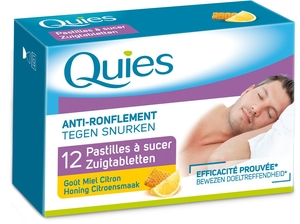 Quies 12 Pastilles A Sucer Anti Ronflement Miel-Citron