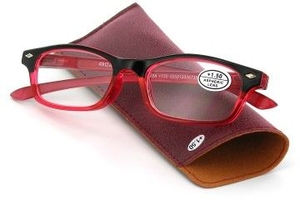 Pharmaglasses Lunettes Lecture Dioptrie +3.00 Red