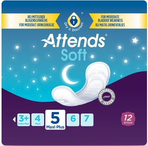 Attends Soft Maxi Plus Night 5 - 12 Protections Anatomiques