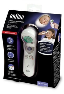 Braun Thermomètre Sans Contact et Frontal (ref NTF 3000)