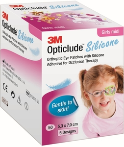 Opticlude 3M Silicone 50 Eye Patch Girl Midi