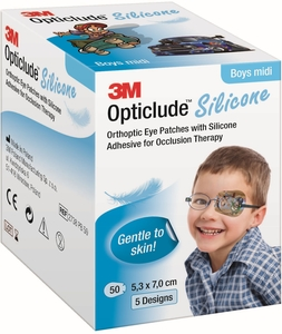 Opticlude 3M Silicone 50 Eye Patch Boy Midi