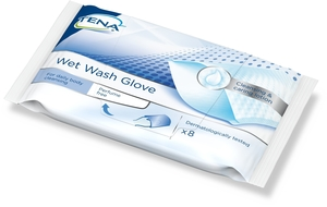 Tena Wet Wash Gloves Sans Parfum 8