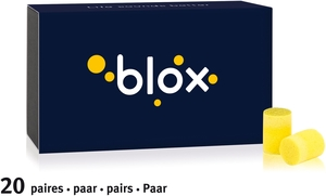 Blox Mousse Cylindrique Recharge 20 Paires Protections Auditives