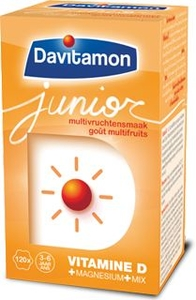 Davitamon Junior Multifruits 120 Comprimés à Croquer