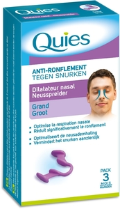 Quies Anti-Ronflement Dilatateur Nasal (Taille Grand)