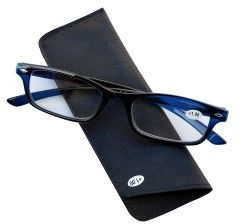 Pharmaglasses Lunettes Lecture Dioptrie +1.00 Dark Blu