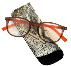 Pharmaglasses Lunettes Comp. +3.50 Brown/orange