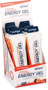 Etixx Energy Gel Ginseng & Guarana (saveur fruit de la passion) 12x50g
