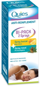 Quies Anti-Ronflement Bi-Pack 2 Sprays